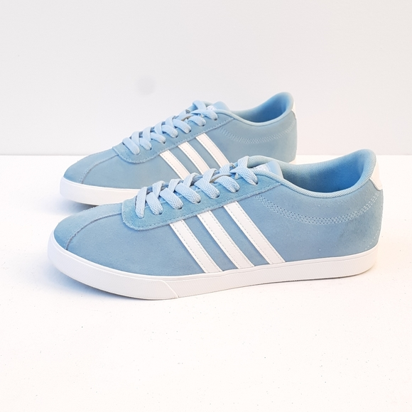 ADIDAS COMFORT FOOTBED BABY BLUE LACE UP SNEAKERS